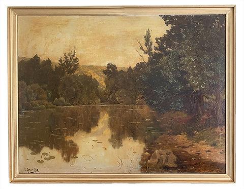 """HIS René Charles Edmond """"Paysage lacustre"""""""