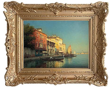 """BOUVARD Antoine """"Vue de Venise"""""""