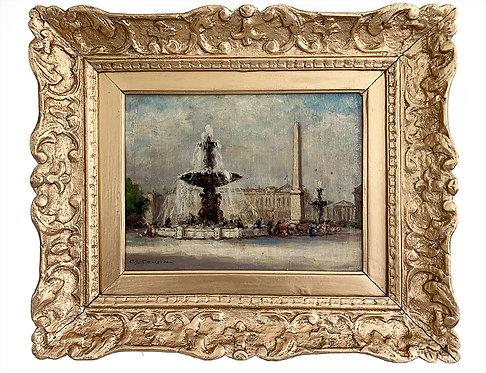"""COUSIN Charles """"Paris, Place de la Concorde"""""""
