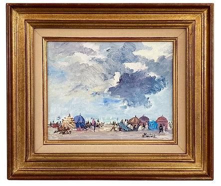 "LORIOT Bernard ""Ciel d'orage au dessus des crinolines"""