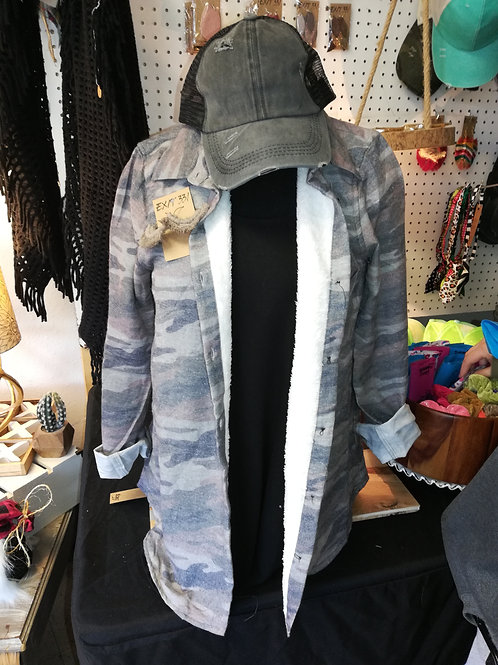 Sherpa Lined Camo Flannel