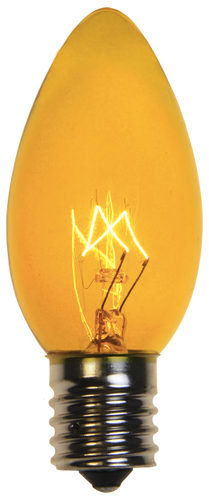 C9 Incandescent Yellow Triple Dipped Transparent Bulbs