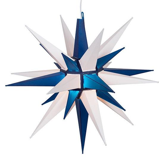 Blue-White LED Moravian Star