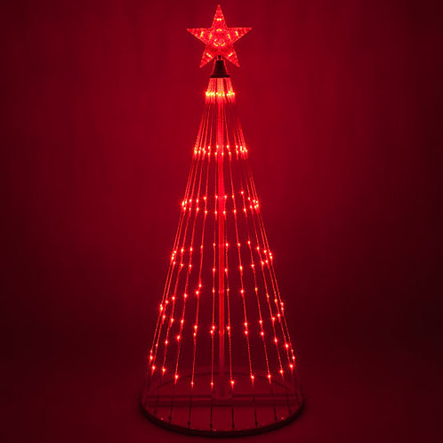 12' Red Color LED Animated Christmas Tree