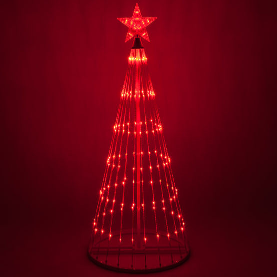 Red LED Light Show Tree