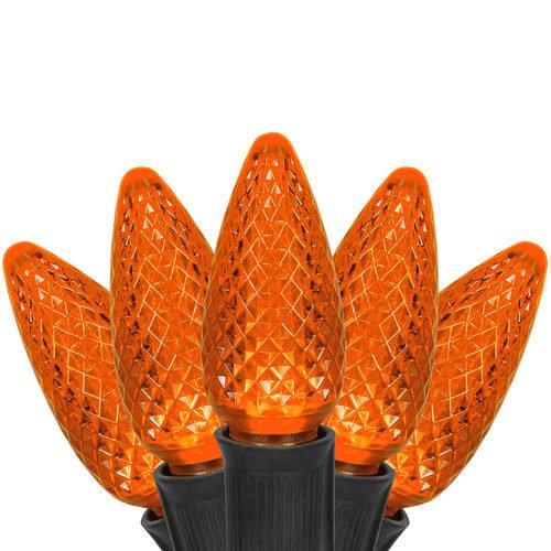C9 Amber/Orange Commercial LED Halloween Lights