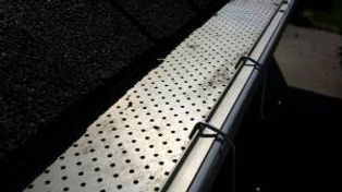 Christmas Hook's fit gutters with perforated or mesh leaf gutter guard