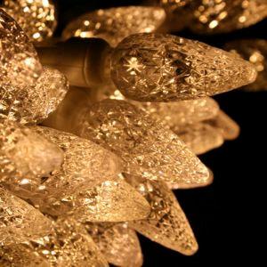 100 count LED Warm White C6 Christmas Light String