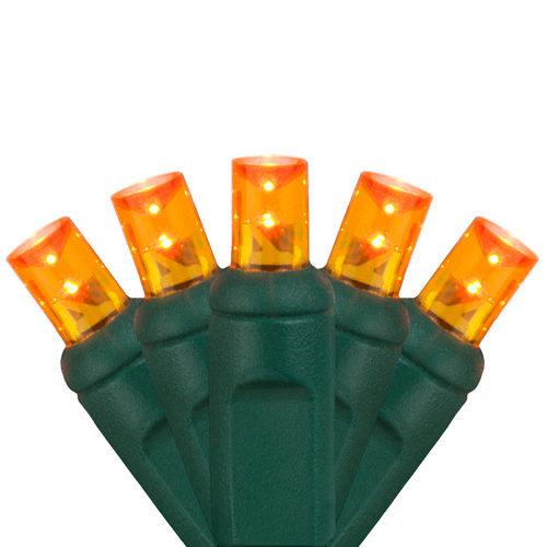 5mm Wide Angle Orange LED Halloween Lights
