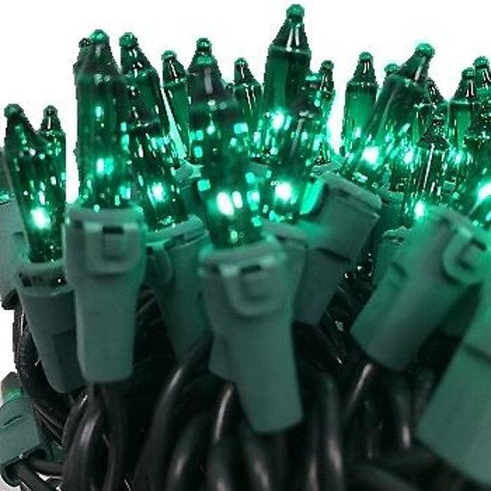Green Incandescent Christmas Lights Case 2400 bulbs