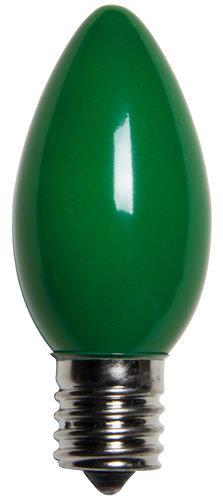 C9 Incandescent Green Opaque Bulbs