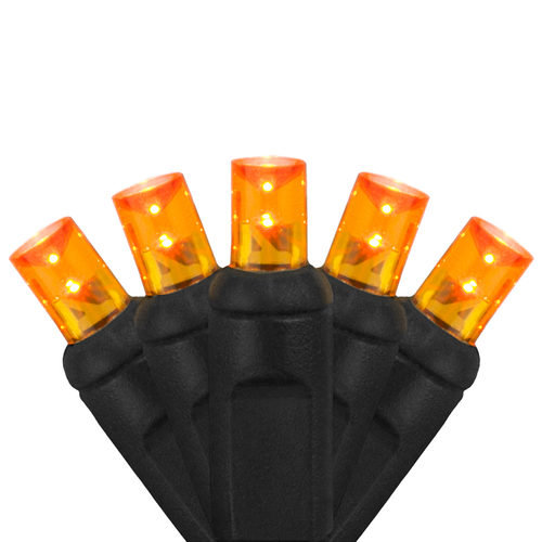 5mm Wide Angle Orange LED Halloween Lights