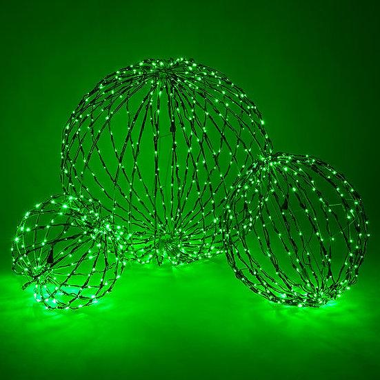 LED Light Ball, Fold Flat Green Frame, Green