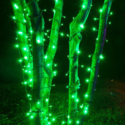 Green LED Christmas String Lights