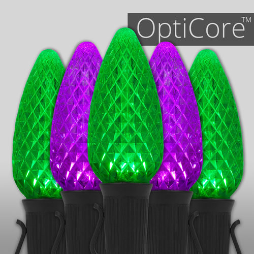 C9 Purple/Green Opticore TM Commercial LED Halloween Lights