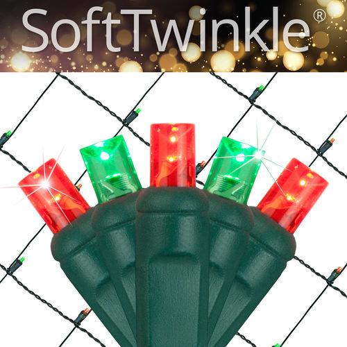Red Green Soft Twinkle Net Lights