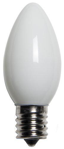 C9 Incandescent White Opaque Bulbs