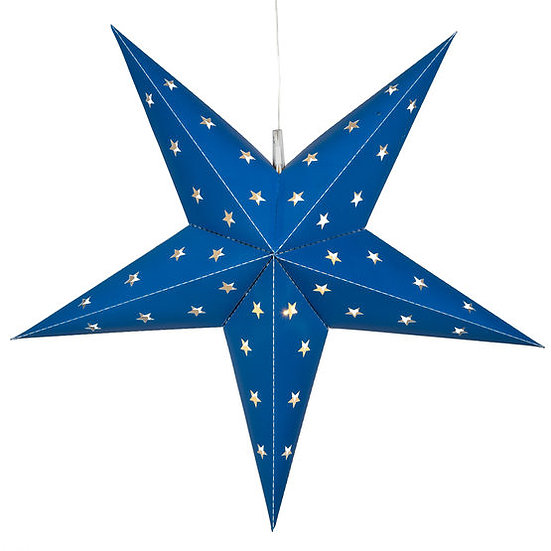 Blue Aurora Superstar 5 Point Star Light, Fold-Flat, LED Lights, Outdoor Rate