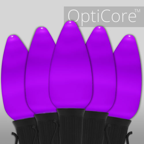 C9 Purple Opticore TM Commercial LED Halloween Lights