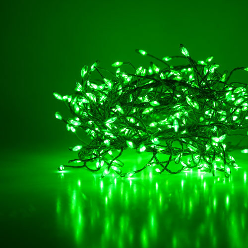 Green LED Fairy Lights, Green Wire 400 Lights