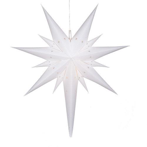 """26"""" White Aurora Superstar  Bethlehem Star Light"""