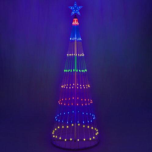 6' Multi Color LED Animated Christmas Tree
