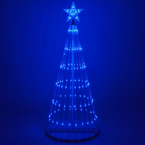 4 Foot Tall Blue LED Animated Light Show Tree