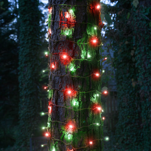 "20"" x 45"" Red-Green StretchNet Pro TM 5mm LED Christmas Trunk Wrap Ligh"