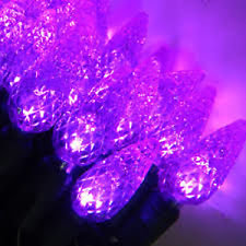 100 count LED Purple C6 Christmas Light String