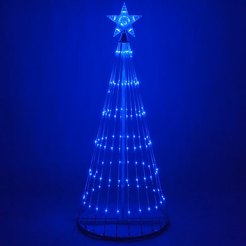 9' Blue Color LED Animated Christmas Tree