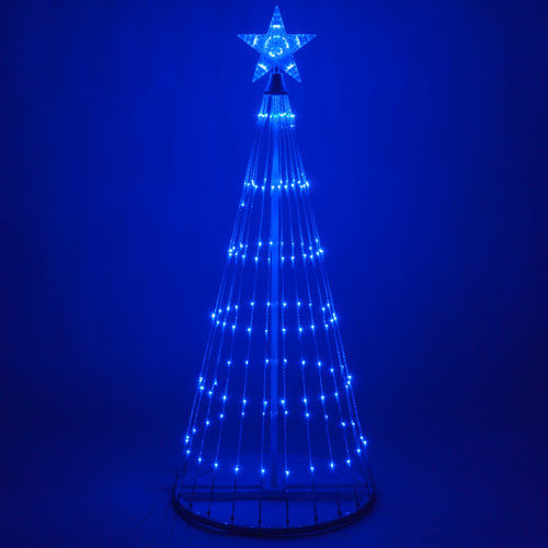 Blue LED Light Show Tree