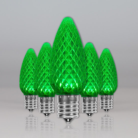 Green C9 SMD Retro Fit Bulbs