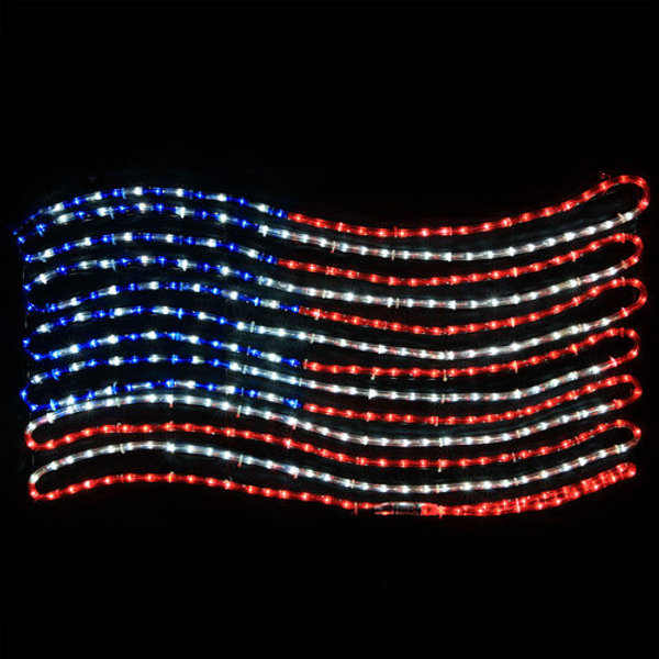 Patriotic Christmas Lights.Rope Light Patriotic Flag Led Lights Christmas Hook