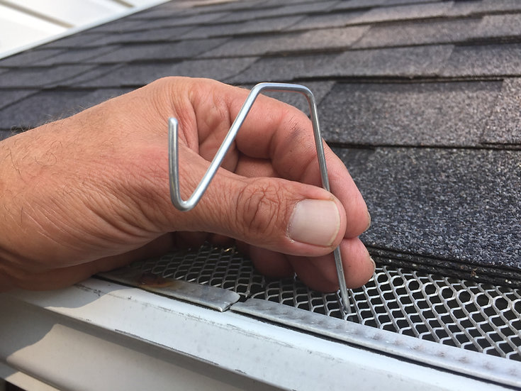 Christmas Hook Christmas Light Hanger for Gutters with Leaf Gutter Guard, Fits mesh or perforated gutter guard
