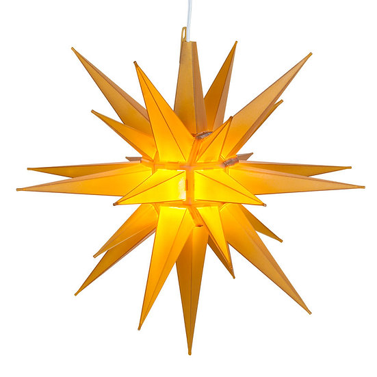 Gold-Yellow LED Moravian Star