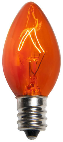Incandescent Orange C7 Christmas Light Bulb