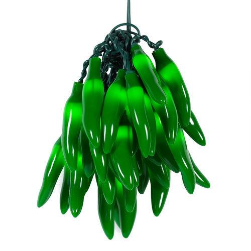 Green Chili Pepper Cluster Light Set