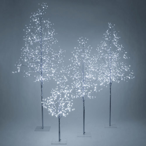 Silver Fairy Light Tree, Cool White LED