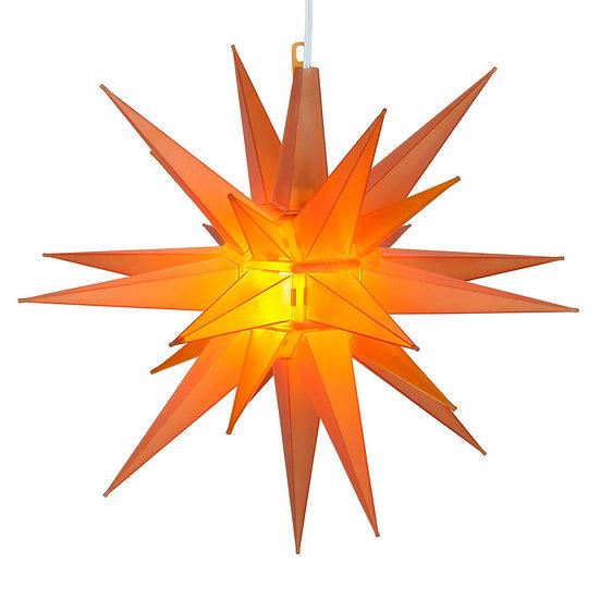 Amber-Orange LED Moravian Star