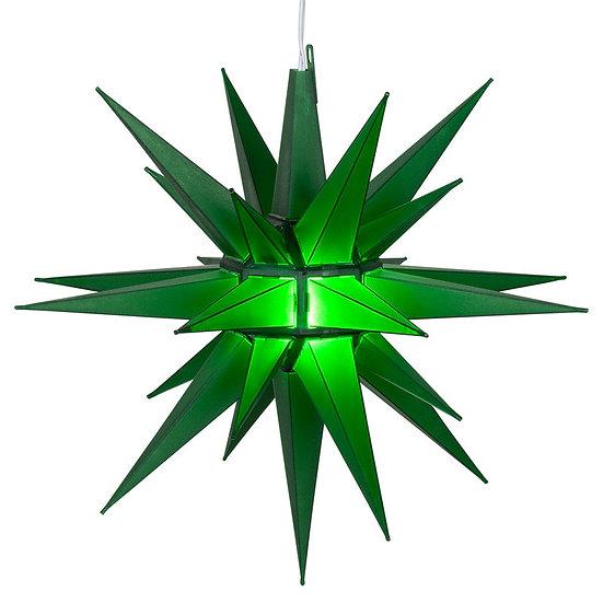 Green LED Moravian Star