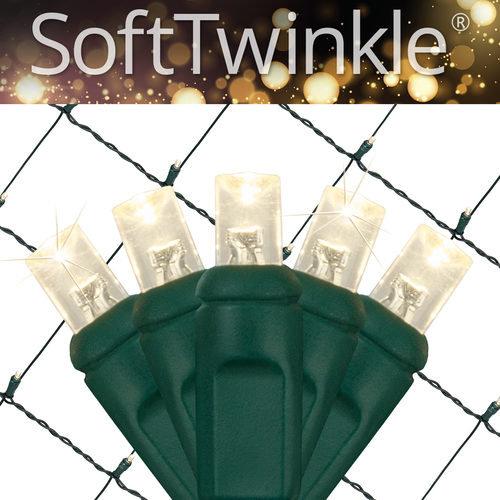 Warm White Soft Twinkle Net Lights