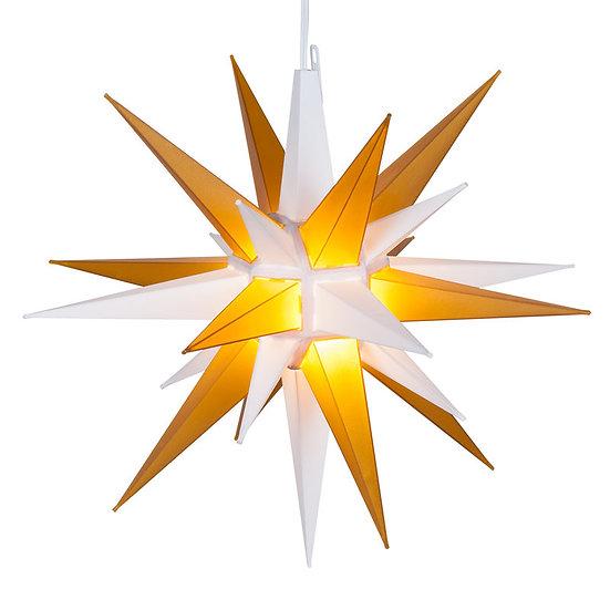 Gold-White LED Moravian Star