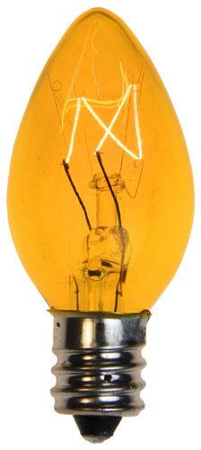 Incandescent Yellow C7 Christmas Light Bulb