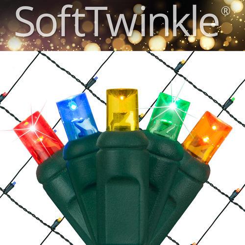 Multi Color Soft Twinkle Net Lights
