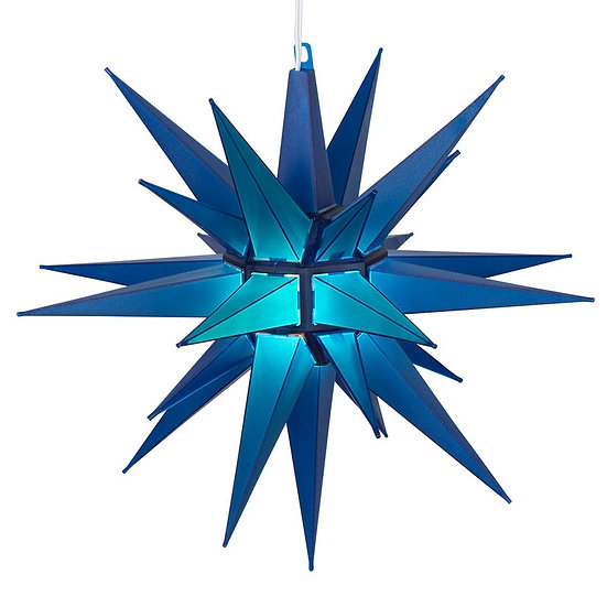 Blue LED Moravian Star