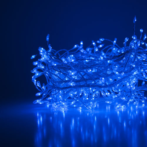 Blue LED Fairy Lights, Silver Wire 400 Lights