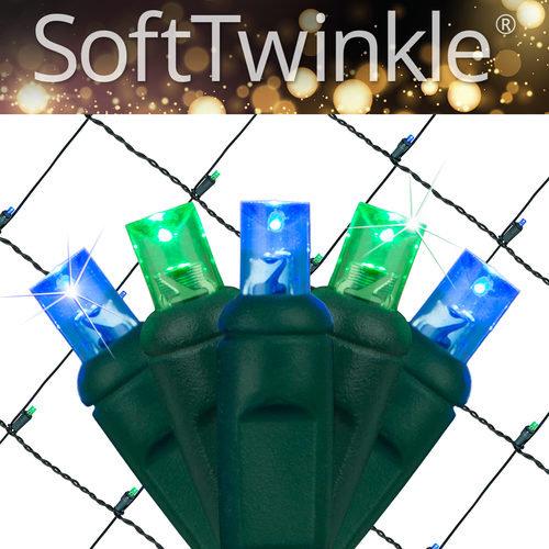 Blue Green Soft Twinkle Net Lights