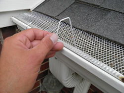 Christmas Hook's fits gutters with mesh or perforated gutter guard