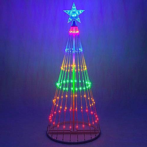 4' Multi Color LED Animated Christmas Tree