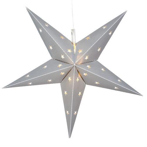 Silver Aurora Superstar 5 Point Star Light, Fold-Flat, LED Lights, Outdoo